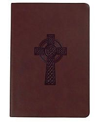 HCSB Classic Personal Size Bible Brown Textured Celtic Cross