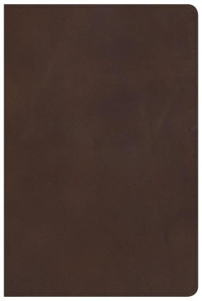 KJV Large Print Personal Size Reference Bible, Brown Genuine Leather